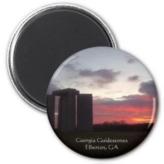 Imán de la puesta del sol de Georgia Guidestones