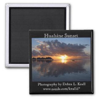 Imán de la puesta del sol de Huahine