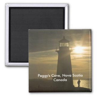 Imán de la puesta del sol de la ensenada de Peggy