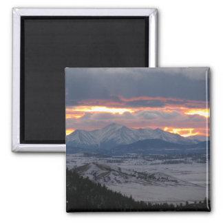 Imán de la puesta del sol de la montaña de Colorad