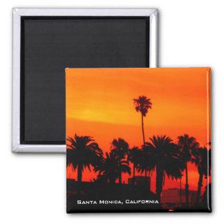 Imán de la puesta del sol de Santa Mónica