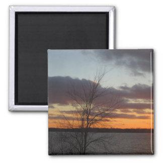 Imán de la puesta del sol del lago