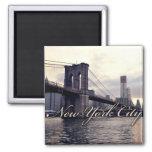 Imán de la puesta del sol del puente de Nueva York