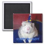 Imán de la rata del feliz cumpleaños