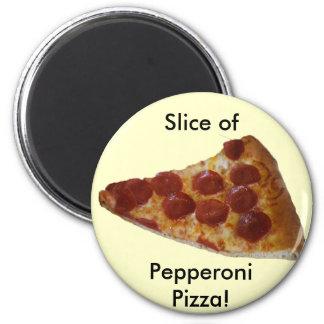 Imán de la rebanada de la pizza de salchichones