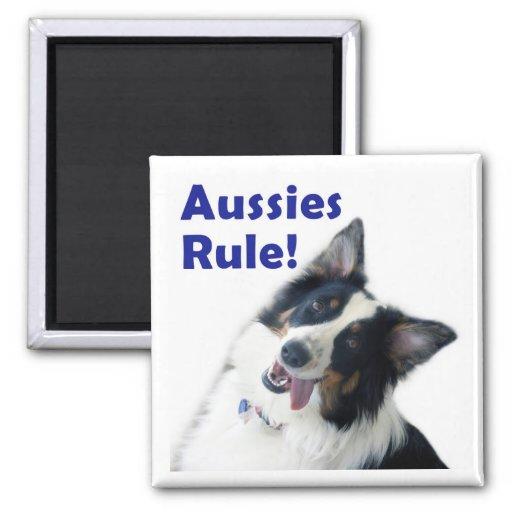 Imán de la regla de los australianos