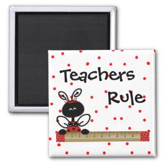 Imán de la regla de los profesores