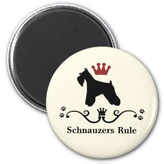 Imán de la regla del Schnauzer