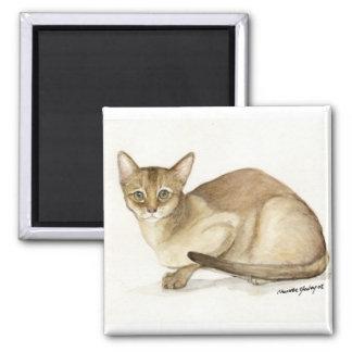 """Imán de la reproducción del arte del """"gato abisini"""