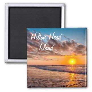 Imán de la salida del sol de la playa de Hilton