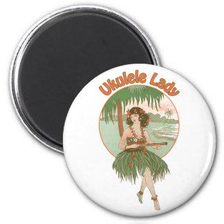 Imán de la señora #1 del Ukulele