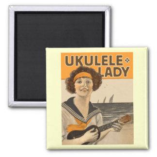 Imán de la señora #2 del Ukulele