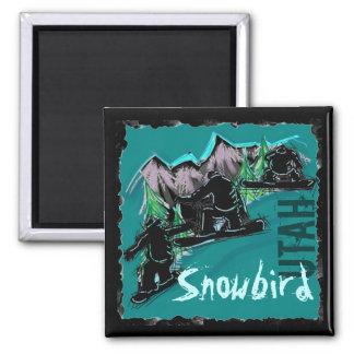 Imán de la snowboard de Utah del Snowbird
