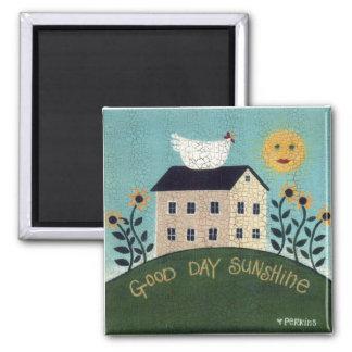 Imán de la sol del buen día