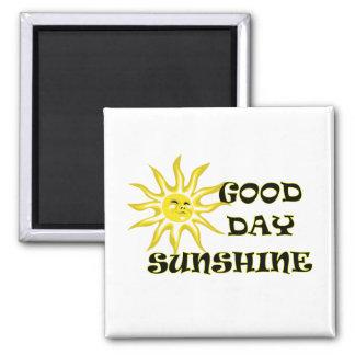 Imán de la sol del buen día de Sun