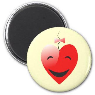 Imán de la sonrisa del corazón