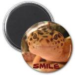 Imán de la sonrisa del Gecko del leopardo