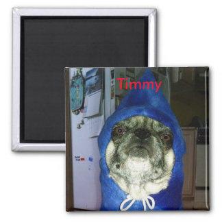 Imán de la sudadera con capucha de Timmy