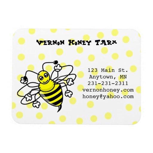 Imán de la tarjeta de visita de la abeja de la mie