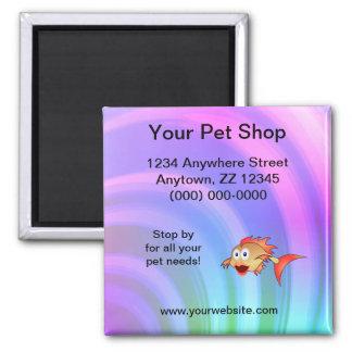 Imán de la tarjeta de visita de la tienda de anima