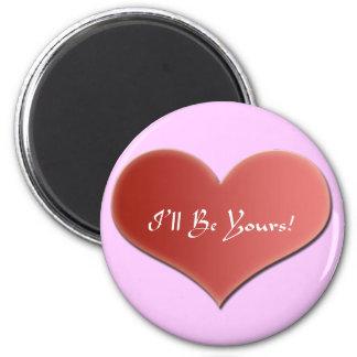 Imán de la tarjeta del día de San Valentín