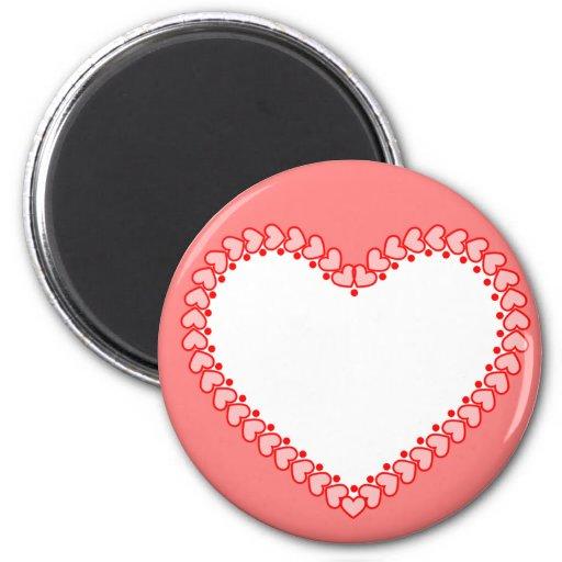 Imán de la tarjeta del día de San Valentín del