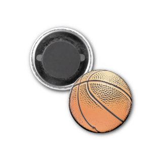 Imán de la textura del grunge del baloncesto