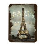 Imán de la torre Eiffel de París del vintage