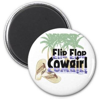 Imán de la vaquera del flip-flop