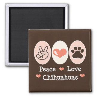 Imán de las chihuahuas del amor de la paz