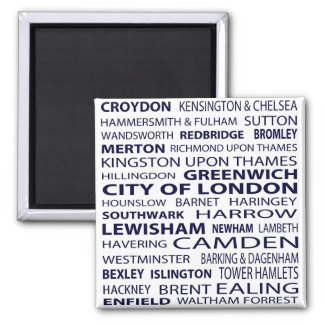 Imán de las ciudades de Londres (blanco)