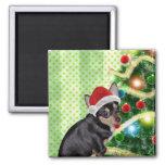 Imán de las Felices Navidad de la chihuahua