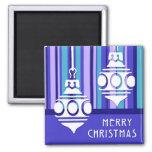 Imán de las Felices Navidad de las decoraciones de