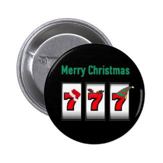 Imán de las Felices Navidad del jugador 777 de la  Pin
