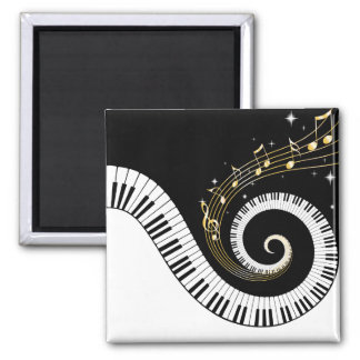 Imán de las llaves del piano y de las notas de la