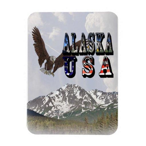 Imán de las montañas de Alaska los E.E.U.U. Eagle