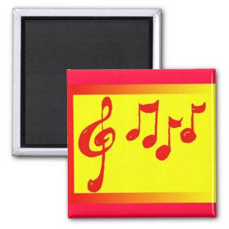 imán de las notas musicales