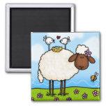 imán de las ovejas de la primavera