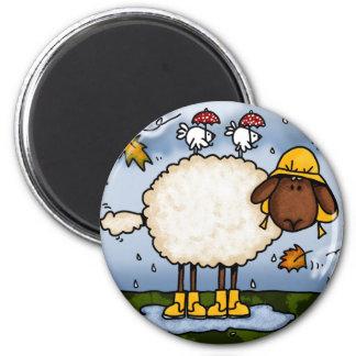imán de las ovejas del otoño