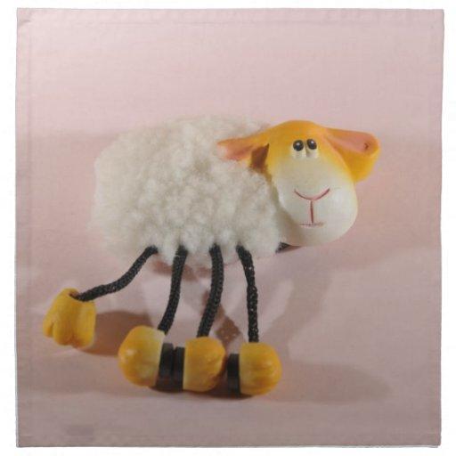 Imán de las ovejas servilleta imprimida