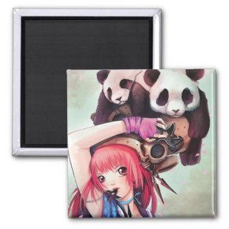 Imán de las pandas de Ninja del melocotón