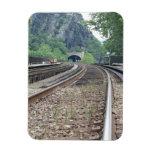 Imán de las pistas de ferrocarril del transbordado