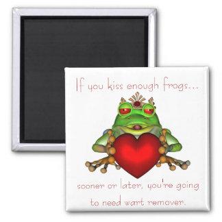 Imán de las ranas del KRW que se besa