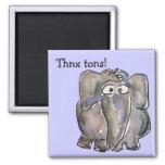 Imán de las toneladas de Thnx del elefante del dib