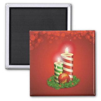 Imán de las velas del navidad de la raya de la hie