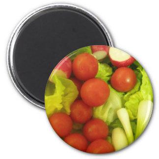 Imán de las verduras de ensalada