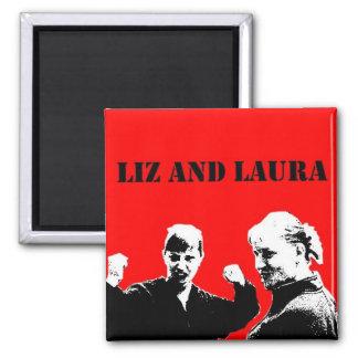 Imán de Liz y de Laura (estilo de Che)