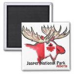 Imán de los alces de Alberta Canadá del parque nac