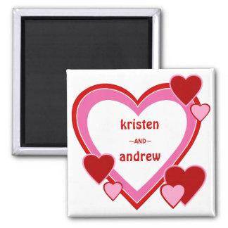 Imán de los amores del el día de San Valentín