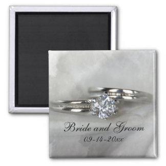 Imán de los anillos de bodas